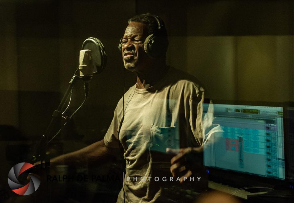 Robert Albury singing backup