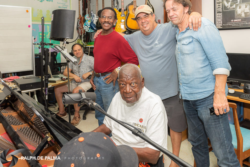 Recording at Bahama Village Music Program Band room.